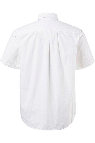 JP 1880 Herren große Größen Hemd | Polokragen, lässiger Schnitt | bis Größe 7XL weiß XXL 706507 20-XXL