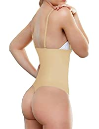 102A - Women Waist Cincher Girdle Tummy Slimmer Sexy Thong Panty Shapewear Bodysuit