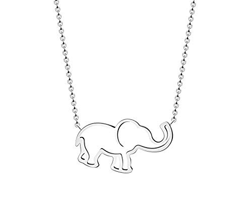 (VAttract Good Luck Necklace - Silver Elephant Pendant Necklace Jewelry - 16 inch Necklace for Women and Girls)