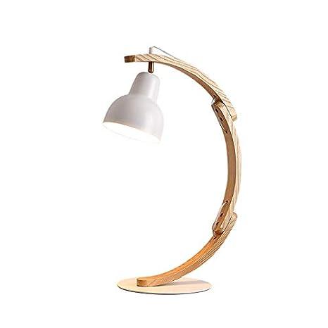 E27 Creativa Lámpara De Mesa cuerpo de madera Lámpara De ...