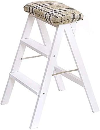 STOOL Escalera de mano Taburetes de casa, taburete plegable Silla de silla alta Escalera de madera Escalera Estantería Escalera de mano Cubierta de tela desmontable Seguridad Cocina Interior Oficina: Amazon.es: Bricolaje y