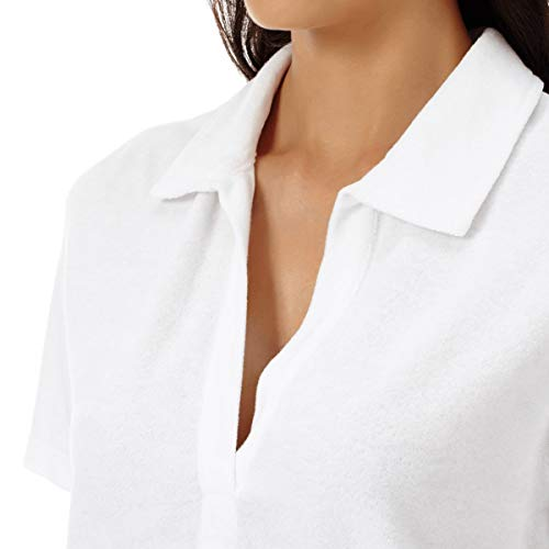 Vilebrequin Terry Color Para Tejido Liso Mujer Polo Blanco De En awrZTga