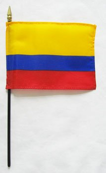 US Flag Store Colombia Flag, 4 by 6-Inch