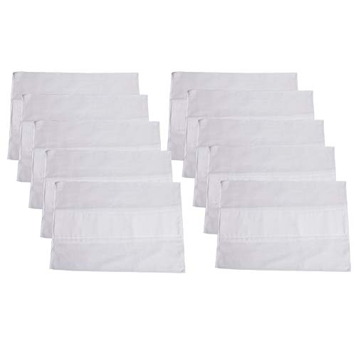 """B-caton Prefold Gauze Cloth Diaper Cover 6-ply with Thick Absorbent Padding Liners,White,(10 Pcs, 19.3""""x 13.4"""" Inch)"""