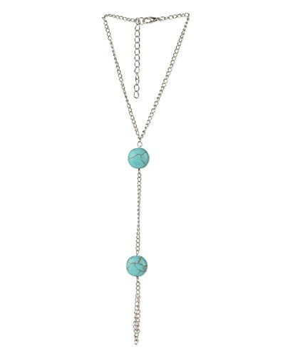 Young & Forever Women's Diwali Special Turquoise Stone Hand/Foot Harness Anklet Gold Toned, Blue by Young & Forever