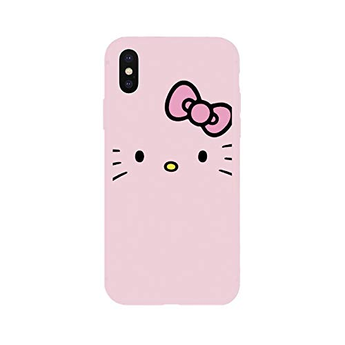 1 piece Hello Kitty Cute Cartoon Cat Soft Case for iPhone 5 5s SE 6 6Plus 6s 6sPlus 7 7Plus 8 8Plus X Xs XR Xs Max Phone Cover Coque -