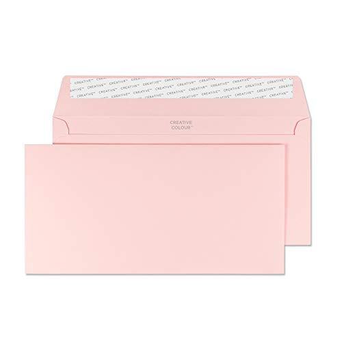 Creative Colour DL+ 114 x 229 mm Wallet Peel and Seal Envelope - Baby Pink (Pack of 500)