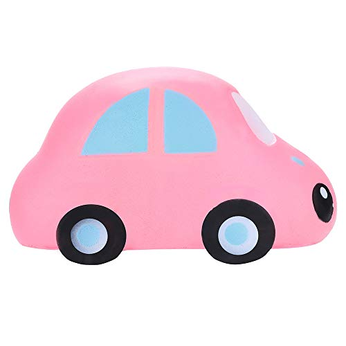 Sagton Slow Rising Stress Reliever Toys,Cute Cartoon Car Decor Jumbo Squishies Scented Relieve Anxiet Gift (Pink) -