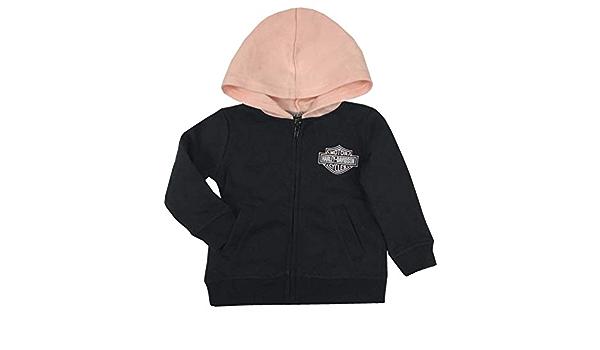 Black 6514009 Harley-Davidson Baby Girls B/&S Fleece Lined Hooded Infant Jacket