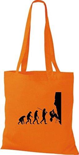Shirtinstyle - Cotton Fabric Bag For Women Orange - Orange