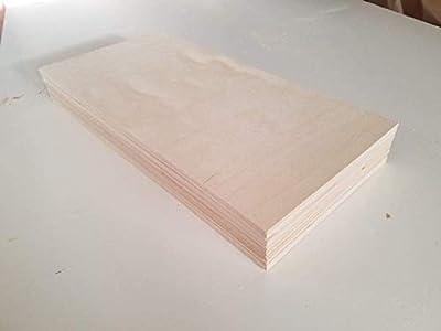"6MM 1/4"" x 12"" x 24"" Premium Baltic Birch Plywood Box of 12 B/BB Grade Birch Veneer Sheets one Clear face"
