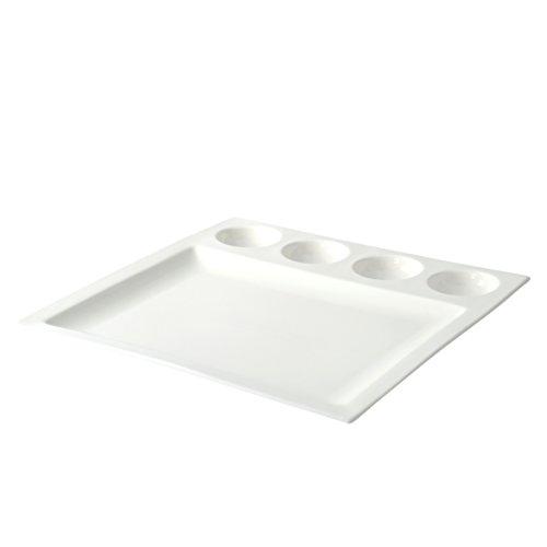 10 Strawberry Street Whittier 4 Round Dish Plate - 12.75