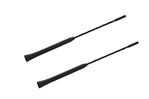 2-pack Short Whip Metal AM/FM/XM CB Antenna Mast for Harley Davidson 11 inch