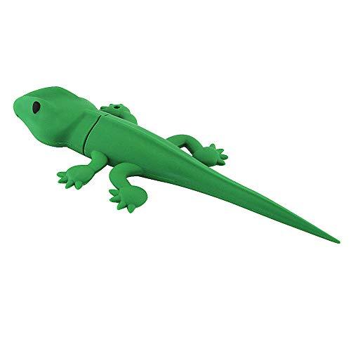 Price comparison product image Novelty 16GB USB 2.0 Flash Drive Green Gecko Lizard Shape Pen Drive Creative Cute Animal Thumb Drive Jump Drive U Disk Gift (16GB,  Lizard)