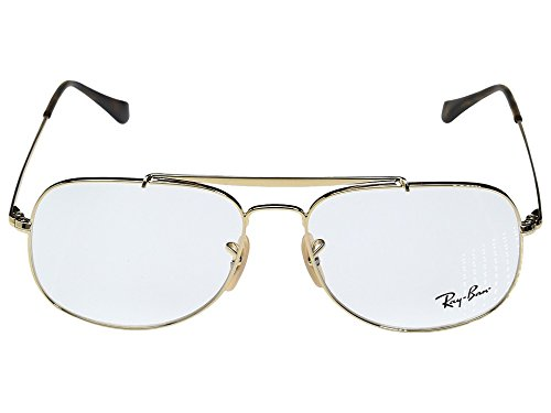 Ray-Ban Unisex 0RX6389 57mm Gold Sunglasses