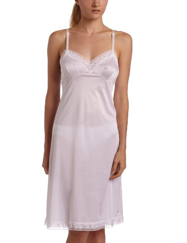 Vanity Fair Women's Plus Size Rosette Lace Full Slip 10103, Star White, 38 Bust (26