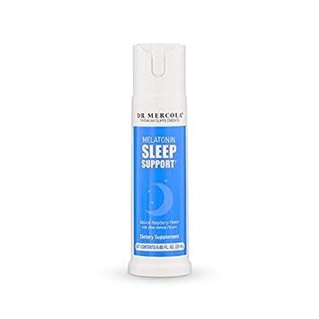 Dr. Mercola Melatonin Sleep Support Spray - Promotes Deep Restful Sleep - Natural Spearmint Flavor - 25...