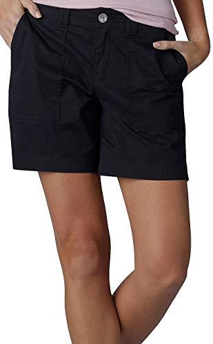 LEE Women's Straight Fit Kinsey Short, Black, 10