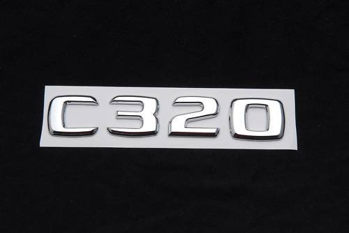 MERCEDES BENZ CHROME C320 REAR TRUNK LETTERS/EMBLEMS/BADGES/STICKERS/ NEW FREE GIFT INCLUDED!!! ()