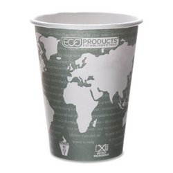 Eco-Products® World Art™ Renewable Resource Compostable Hot Drink Cups - Eco Products Hot Cup