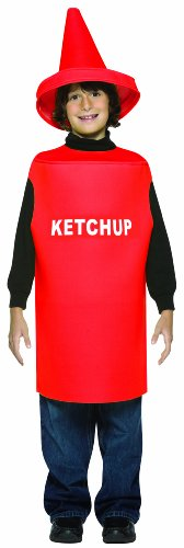 Rasta Imposta Lightweight Ketchup Children's Costume, 7-10, Red