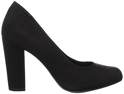 Talons 22425 Black Couvert à Chaussures Femme Pieds Marco Noir Tozzi Avant 001 du wqRHxBA