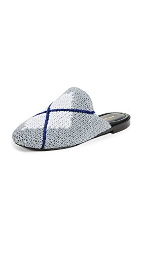 AVEC MODERATION Women's Zermatt Argyle Slides, Grey, 7 Medium US