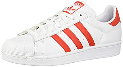 adidas Originals Women's Superstar Shoes Running, White/Active red/Black 8.5 M US