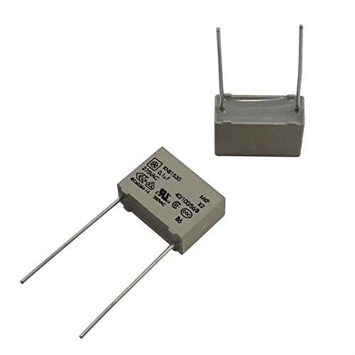 20x Supression Capacitor Radial 0,1/µF 275V AC RM15 KNB1530U120/%275VL25 ; 100nF