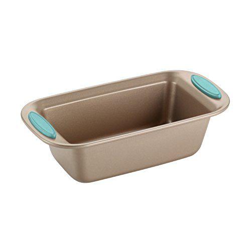 Rachael Ray Nonstick Bakeware 5-Piece Set, Latte Brown with Agave Blue Handle Grips by Rachael Ray (Image #6)
