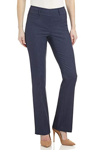 Rekucci Women's Ease in to Comfort Fit Barely Bootcut Stretch Pants (8,Indigo)