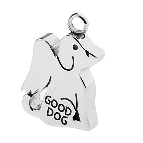 (Puppy Wing Shape GOOD DOG Cremation Ashes Urn Holder Pendant for Necklace )
