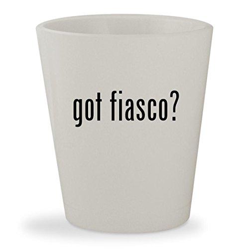 got fiasco? - White Ceramic 1.5oz Shot - Lupe Glasses Fiasco