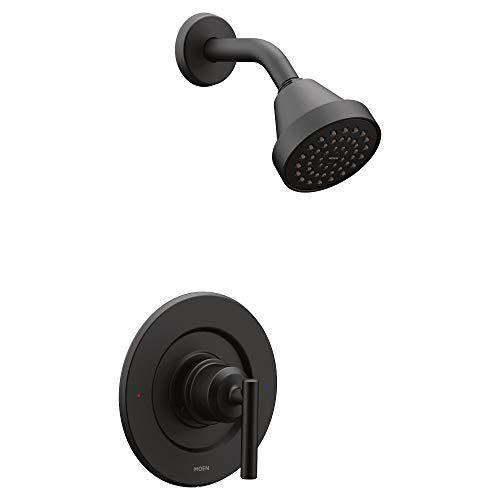 Moen T2902EPBL Gibson Posi-Temp Pressure Balancing Eco-Performance Modern Shower Only Trim without Valve, Matte Black