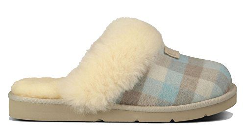 b64bf6ebdd7 UGG Australia Womens Cozy Flannel Slipper Salt Plaid Size 8 - Buy ...