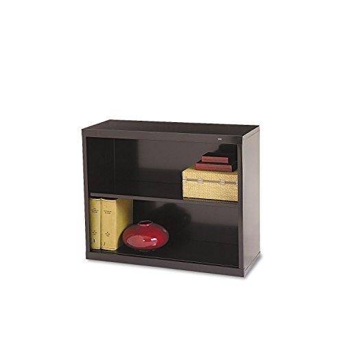 TENNSCO B30BK Metal Bookcase, Two-Shelf, 34-1/2w x 13-1/2d x 28h, Black (Tennsco Bookcase Shelf 2)