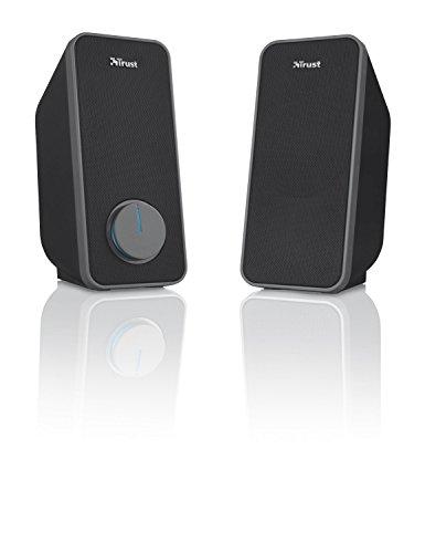 Trust Arys 2.0 USB Lautsprecher Set (28 Watt, 3,5mm Klinke, USB-Stromversorgung, für PC, Laptop, Tablet und Smartphone) schwarz