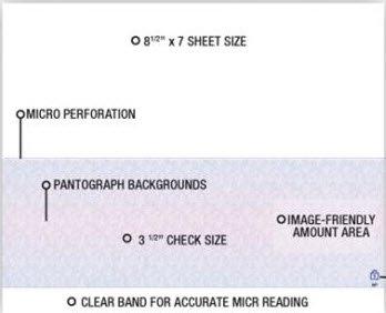 EGP Blank Laser Bottom Checks on 8 1/2 x 7'' Sheets, 2500 Count, Blue/Red Prismatic by EGPChecks