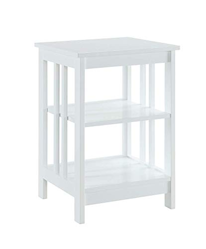 Convenience Concepts Mission End Table , White - Mission Side Table Finish