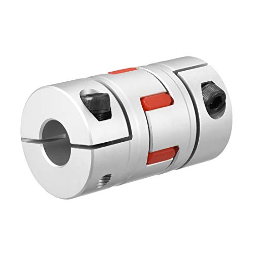uxcell Shaft Coupling 1/2inch to 1/2inch Bore L66xD40 Flexible Coupler Joint for Servo Stepped Motor