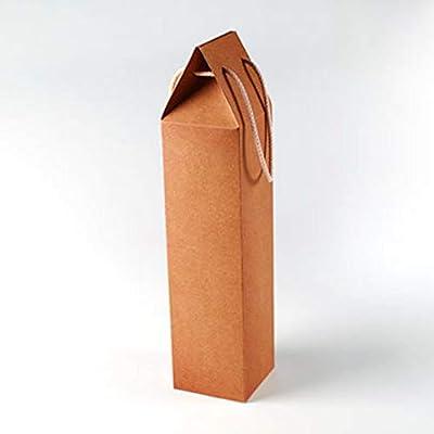 Selfpackaging Caja de cartón Regalo para una Botella. con Forma de Bolsa, para Regalar una Botella de Vino - Pack de 50 Unidades: Amazon.es: Deportes y aire libre