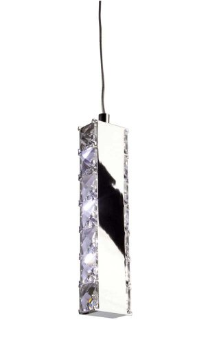 Artcraft Lighting Eternity Contemporary Mini Pendant Light, Polished Chrome