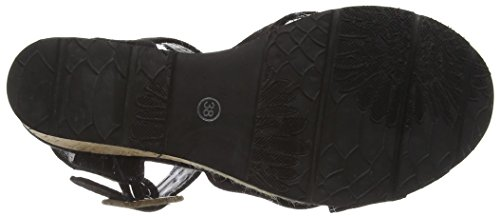 SPMLamborghini Sandal - sandalias de tacón con cierre al tobillo Mujer Negro - negro