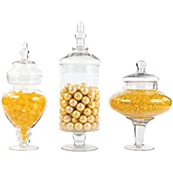 Dress My Cupcake Couture Candy Buffet Apothecary Jars, Set of 3