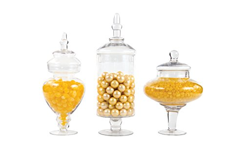 Dress My Cupcake Couture Candy Buffet Apothecary Jars, Set of 3 (Couture Candy)