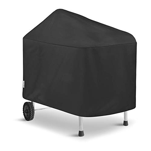 UNICOOK Outdoor Barbecue Cover for Weber Performer 22-Inch Grills, Compared to Weber 7152 and 7455 Grill Cover, Heavy Duty Waterproof Fade Resistant Material, Black ()