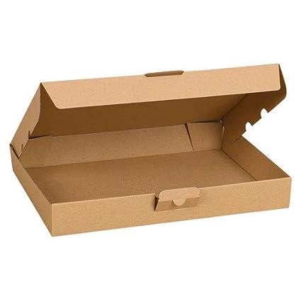 Caja de cartón Mail Caja plegable de envío de paquetes cajas de envío para envíos Post Choice Carta Grande 350 x 250 x 50 mm, color marrón 200 Pieces