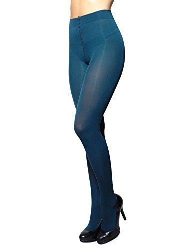 3d Tights (OPAQUE WINTER TIGHTS | THICK TIGHTS | MICROFIBER 3D PANTYHOSE | 80 DEN | M, L, XL | ITALIAN HOSIERY | (M, MYSTIC GREEN))