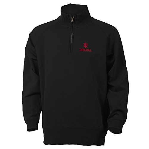 NCAA Indiana University Benchmark 1/4 Zip, X-Large, Black
