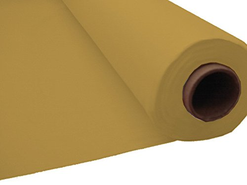 100ft Plastic Disposable Party Banquet Table Roll (Ivory) Amscan